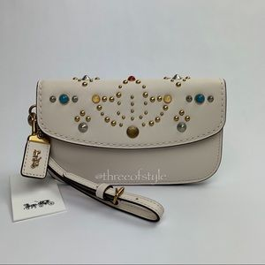Coach 1941 Leather Clutch with Resin Rivets